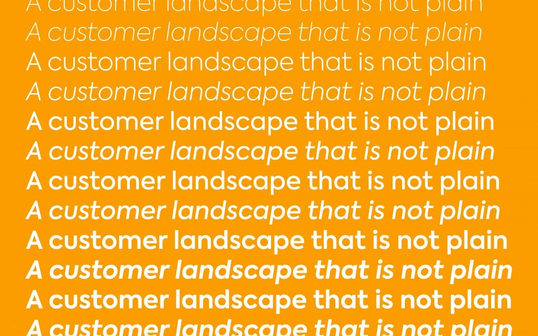 A customer landscape that is not plain